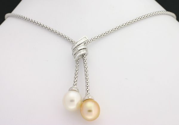 unity south drop pearl pendant collection mm golden sea products