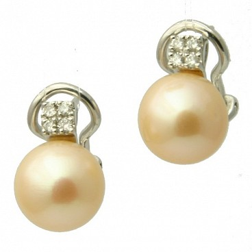1416 - 18K Pearl Stud Earrings
