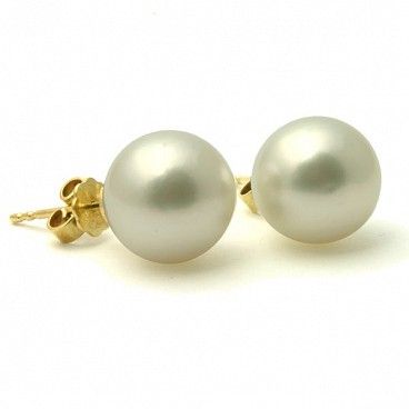 Carina 14K South Sea Pearl Stud Earrings