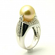Alina <br/> 18K Golden South Sea Pearl Ring