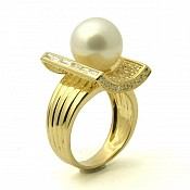 Arianna 18K White South Sea Pearl Ring