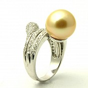 Emma <br/> 18K Golden South Sea Pearl Ring