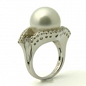 Adalyn 18K South Sea Pearl Ring