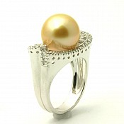 Ashley <br/> 18K Golden South Sea Pearl Ring