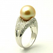Kaitlyn <br/> 18K Golden South Sea Pearl Ring