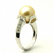 Elena 18K Golden South Sea Pearl Ring
