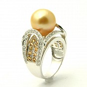 Aria <br/> 18K Golden South Sea Pearl Ring