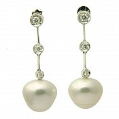 1354 - 18K Pearl Earrings