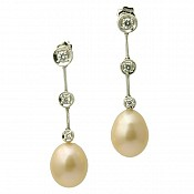 1377 - 18K Pearl Earrings
