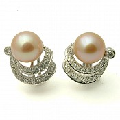 1390 - 18K Pearl Stud Earrings