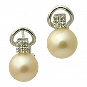Allie 18K Pearl Stud Earrings