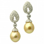 Gabriella 18K South Sea Pearl Earrings