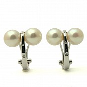 18K Akoya Pearl Earrings - 1428