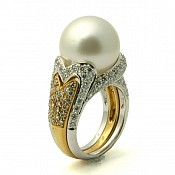 Cadence <br/> 18K South Sea Pearl Ring