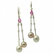 Zoe Sapphire <br/> 18K South Sea Pearl Earrings