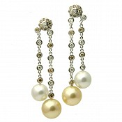 Sabrina Diamond <br/> 18K South Sea Pearl Earrings