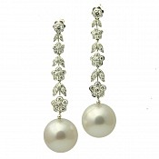 Molly Diamond <br/> 18K South Sea Pearl Earrings
