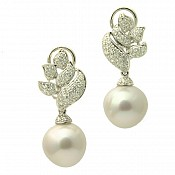 18K South Sea Pearl Earrings - 1626