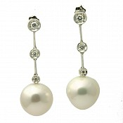 18K South Sea Pearl Earrings - 1628