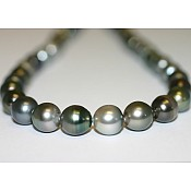 Tahitian Black Pearl Necklace - 1925