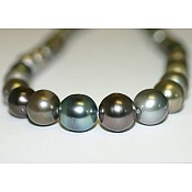 Tahitian Black Pearl Necklace - 1926