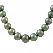 Tahitian Black Pearl Necklace - 1931