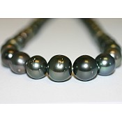 Tahitian Black Pearl Necklace - 1953