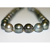 Baroque Tahitian Black Pearl Necklace - 1969