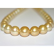 Miranda <br/> Golden South Sea Pearl Necklace