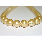 Rose <br/> Golden South Sea Pearl Necklace