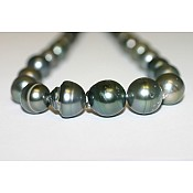 Baroque Tahitian Black Pearl Necklace - 2015