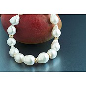 Mercedes Baroque Diamond South Sea Pearl Necklace