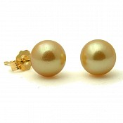 Anna Golden <br/> 14K South Sea Pearl Earrings
